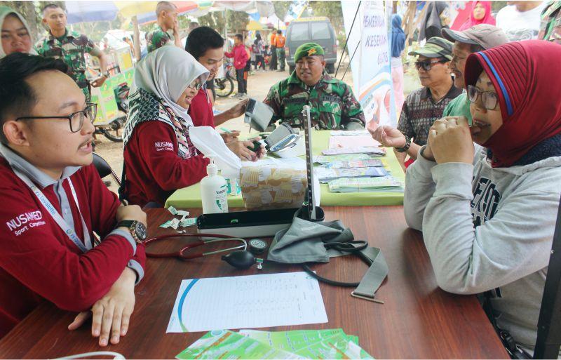 Pemeriksaan Gratis dalam Acara Fun Run 5k HUT TNI 2018 Malang